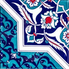 Mehtap - piastrelle di ceramica turche 20x20 cm, confezione da 12 pezzi (0,48 m2)