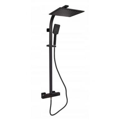 Akali - miscelatore termostatico nero per doccia