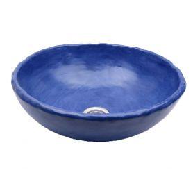 Matylda - Lavabo artistico cobalto blu opaco