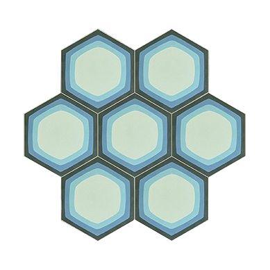 Mirdor - Piastrelle esagonali di cemento