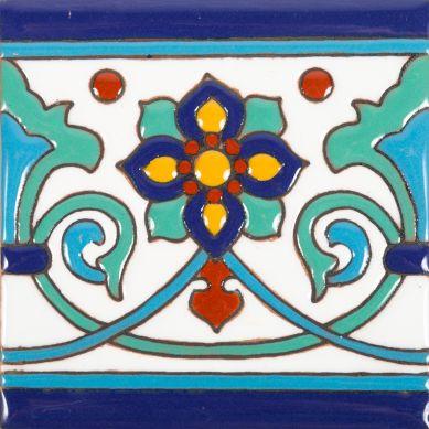 Muse - Piastrelle messicane in ceramica con rilievo 30 pezzi