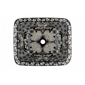 Serena - lavabo messicano in ceramica rettangolare