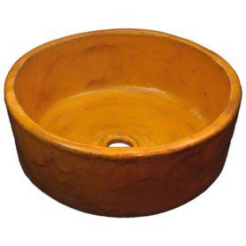 Joanna - Lavabo fatto a mano arancione