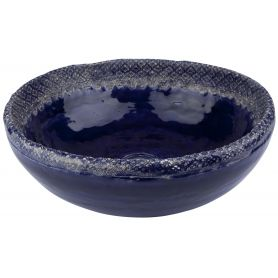 Kornelia - Lavabo in cobalto con pizzo