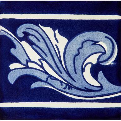Asturia Cenefa - piastrelle in ceramica blu 15x15 - 22 pezzi