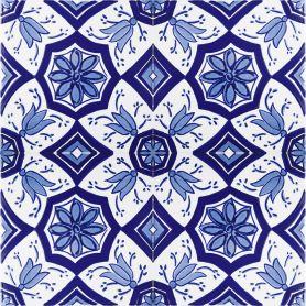 Aida - piastrelle di ceramica blu e bianca 20x20cm, 12 piastrelle incluse (0,5m2)