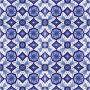Aida - piastrelle di ceramica blu e bianca