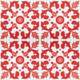 Batul - piastrelle rosse dalla Tunisia 20x20cm, 12 piastrelle incluse (0,5m2)