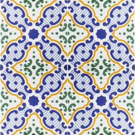 Rima - Rivestimento tunisino 20x20cm, 12 piastrelle incluse (0,5m2)