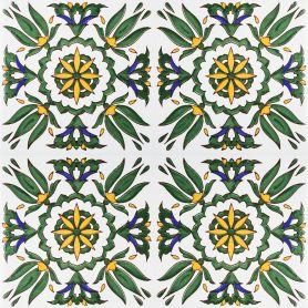Radija - piastrelle di ceramica dalla Tunisia 20x20cm, 12 piastrelle incluse (0,5m2)