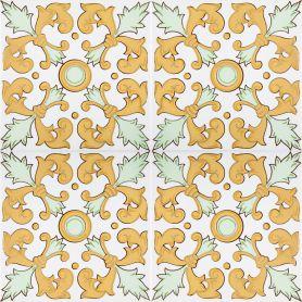 Navar - piastrelle giallo dalla Tunisia 20x20cm, 12 piastrelle incluse (0,5m2)