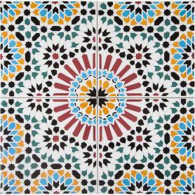 Hass - Piastrelle stile marocchine 20x20cm, 12 piastrelle incluse 0,5m2