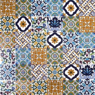 Wati - patchwork decorativo dalla Tunisia 10 x 10 cm