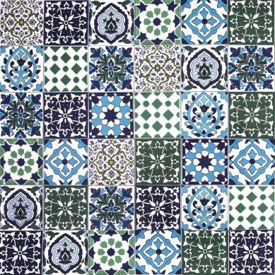 Muhit - patchwork decorativo dalla Tunisia 10 x 10 cm
