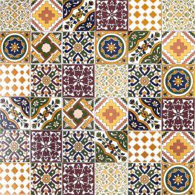 Maraj - Piastrelle Decorate a mano 10 x 10 cm, 50 tessere nella scatola (0,5m2)