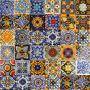 Colorido - patchwork colorato da piastrelle messicane