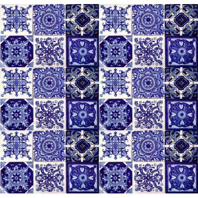 Tono - Patchwork Piastrelle Messicane blu