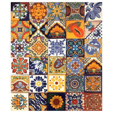 Conrado - Patchwork piastrelle messicane in ceramica