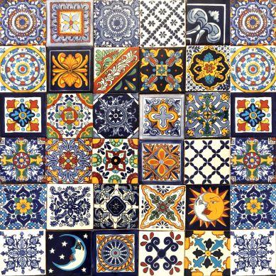 Horacio - Patchwork di Piastrelle Messicane in Ceramica
