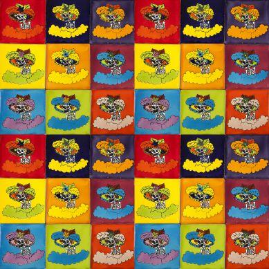 Catrinas - Talavera piastrelle pop art - 30 pezzi