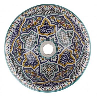 Mikhat - Lavabo colorato in ceramica marocchina