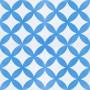 Alim - piastrelle di cemento bianco blu