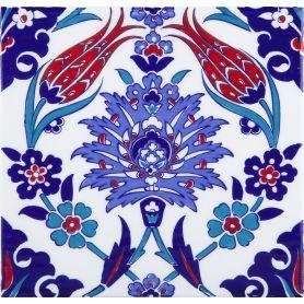 Makbule - piatti in ceramica turchi 20x20cm, confezione da 12 (0,48 m2)