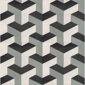 Zico - piastrelle in cemento bianco grigio